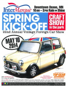 2014 Osseo Vintage Car Show Flyer with Craft Show
