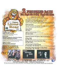 2014 Lions Roar Official Flyer