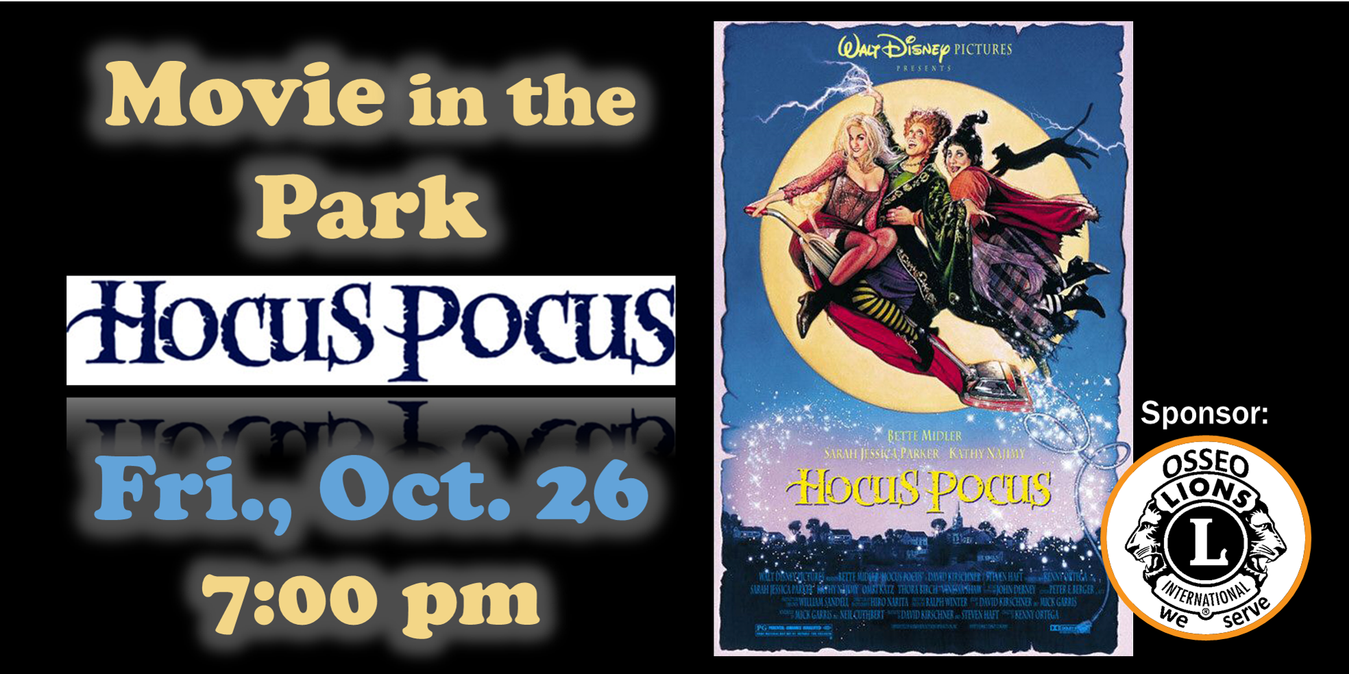 Hocus Pocus Movie in the Park