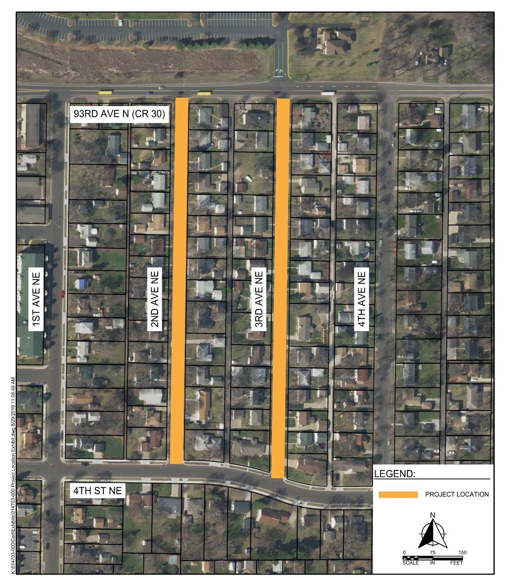 2020 Street Project Locator Map