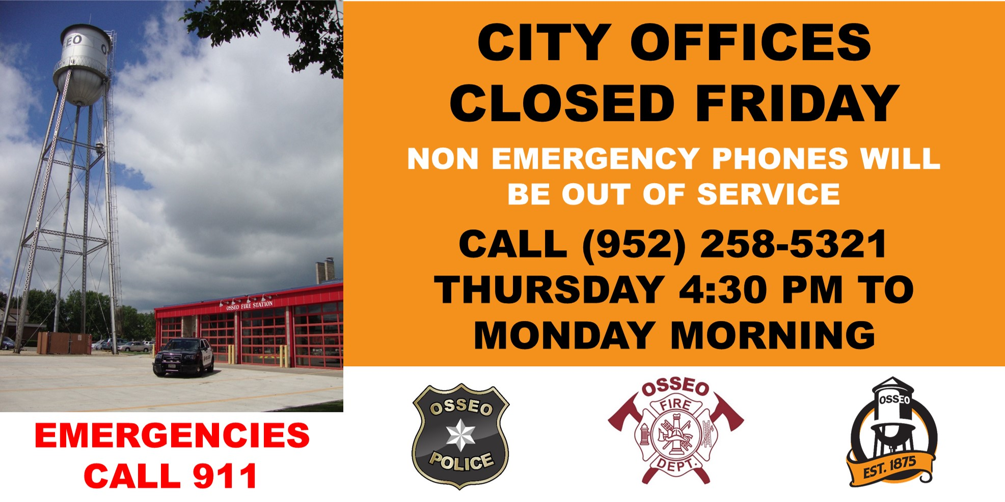 City Hall closed Friday