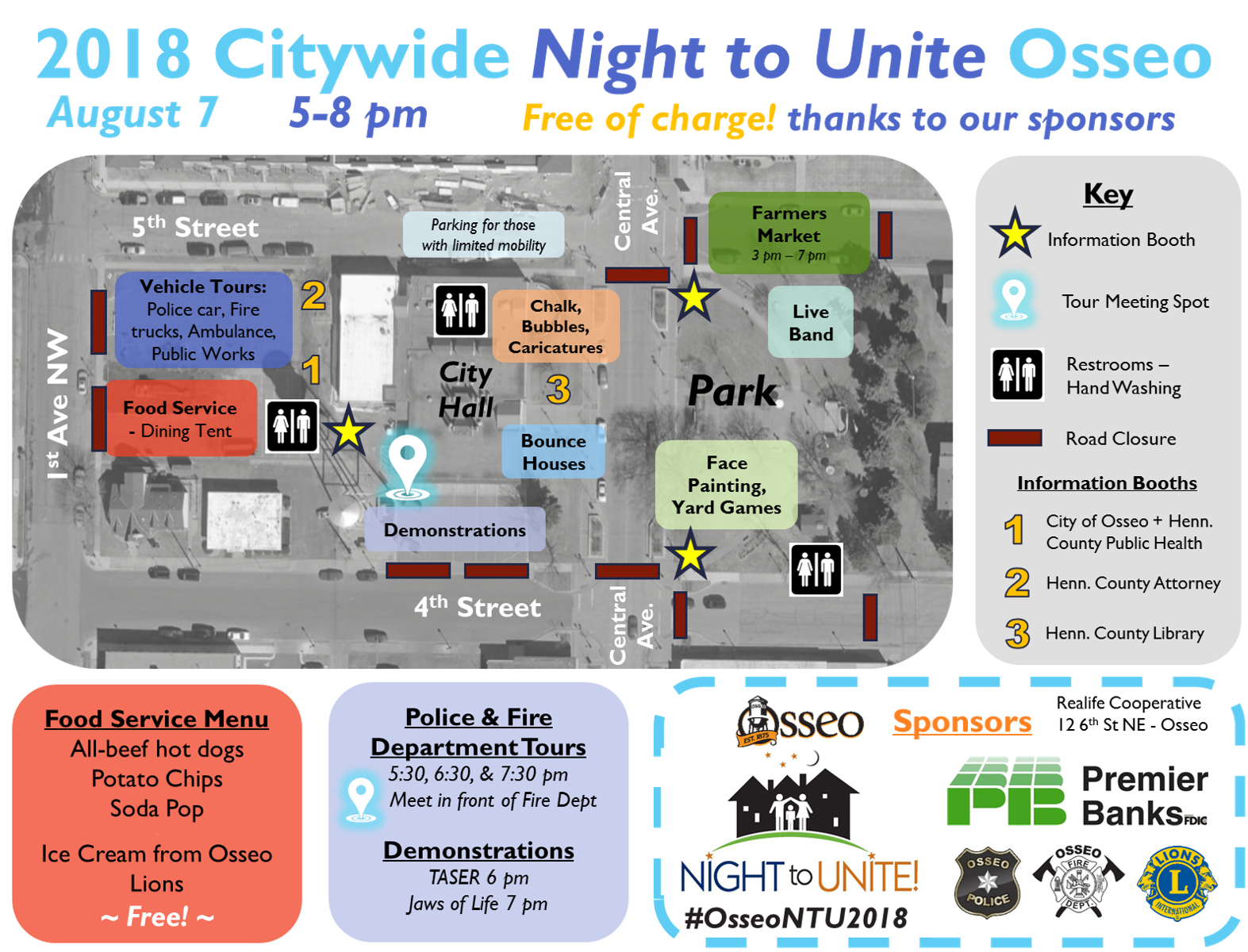Osseo Night To Unite Map